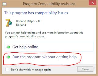 Cara Install Delphi 7 di Windows 8