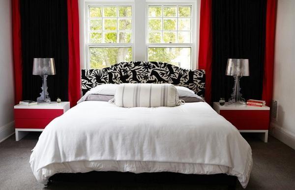 warna cat kamar tidur merah hitam 4