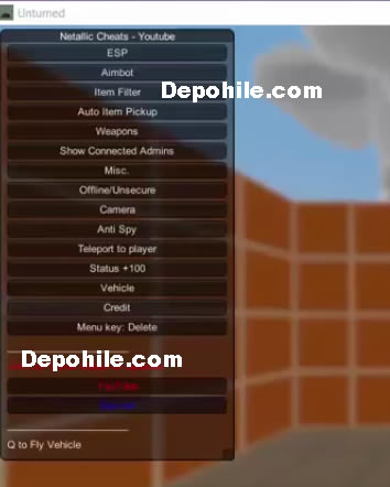 Unturned 3.25.0.0 ESP,Aim,Weapons Menu Hile Temmuz 2018