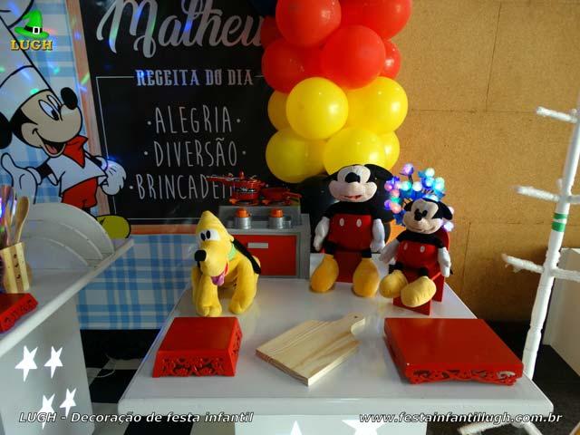 Decoração Mickey Cozinheiro para festa de aniversário infantil