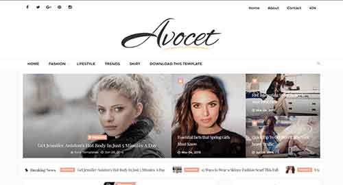Avocet Blogger Template