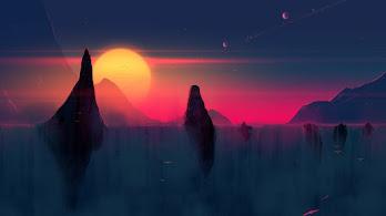 Sunset, Scenery, Digital Art, 4K, #104