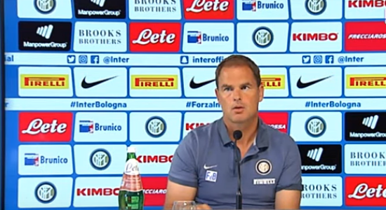 """CONFERENZA STAMPA F. De Boer pre Inter-Bologna: """"Brozovic? Non convocato. Ansaldi? La formazione la decido dopo l'allenamento di oggi"""".  a cura di J.Manca"""