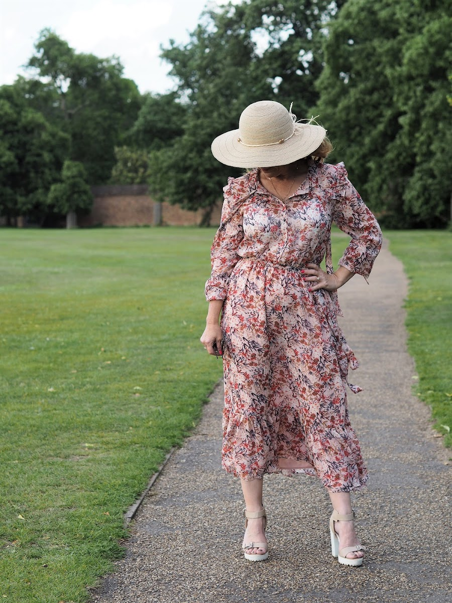 Laura Ashley Floral Print Maxi Dress