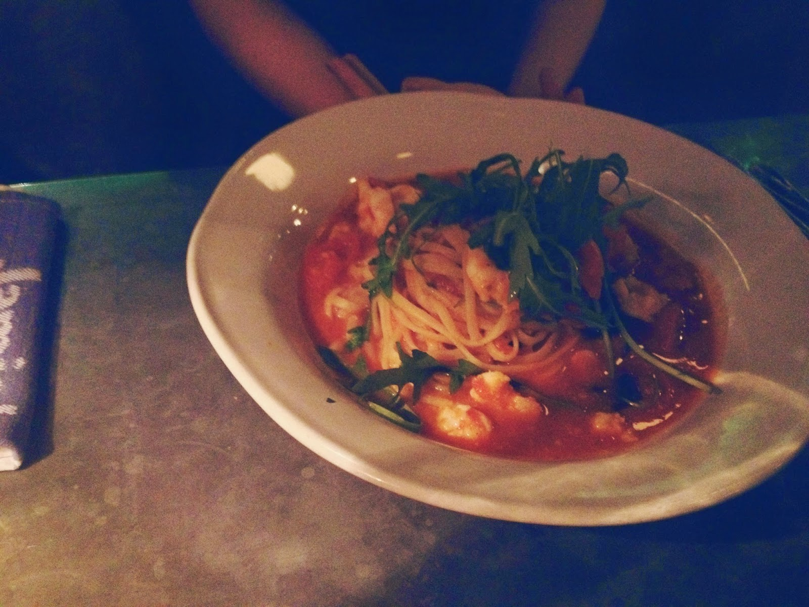 Jamie's Italian Aberdeen restaurant review famous prawn linguine
