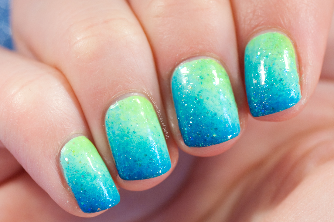Summer Neon Gradient Nail Art - May contain traces of polish
