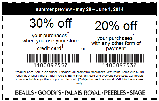 picture about Goody Printable Coupons titled Texas bealls coupon : Print Shop Discounts