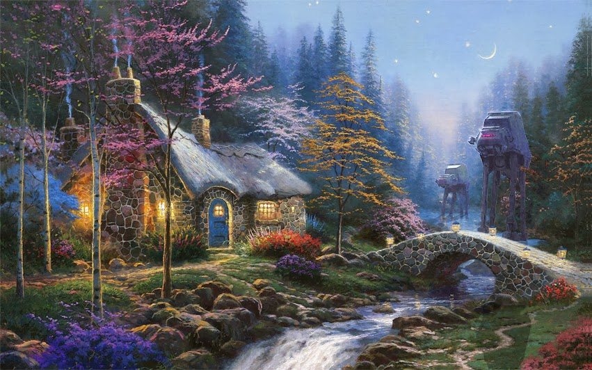 02-Jeff-Bennett-Thomas-Kinkade-Star-Wars-on-Kinkade-Paintings-www-designstack-co