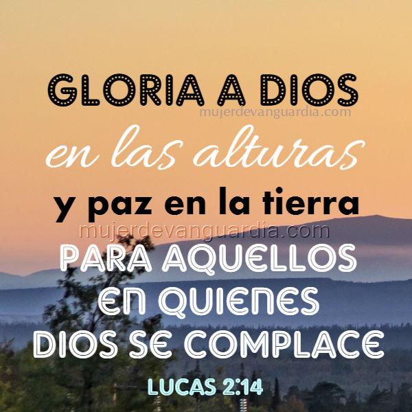 gloria a Dios en las alturas