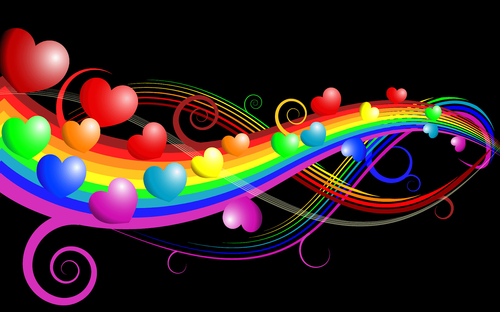 3d Rainbow Wallpaper Download 1920x1200 Natural Rainbow White