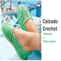 5 tutoriales de calzado crochet