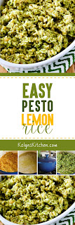 Easy Pesto Lemon Rice found on KalynsKitchen.com