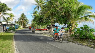 One mainroad in Funafuti