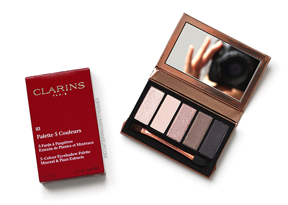 Clarins Instant Natural Glow 5-Colour Eyeshadow Palette Review Photos