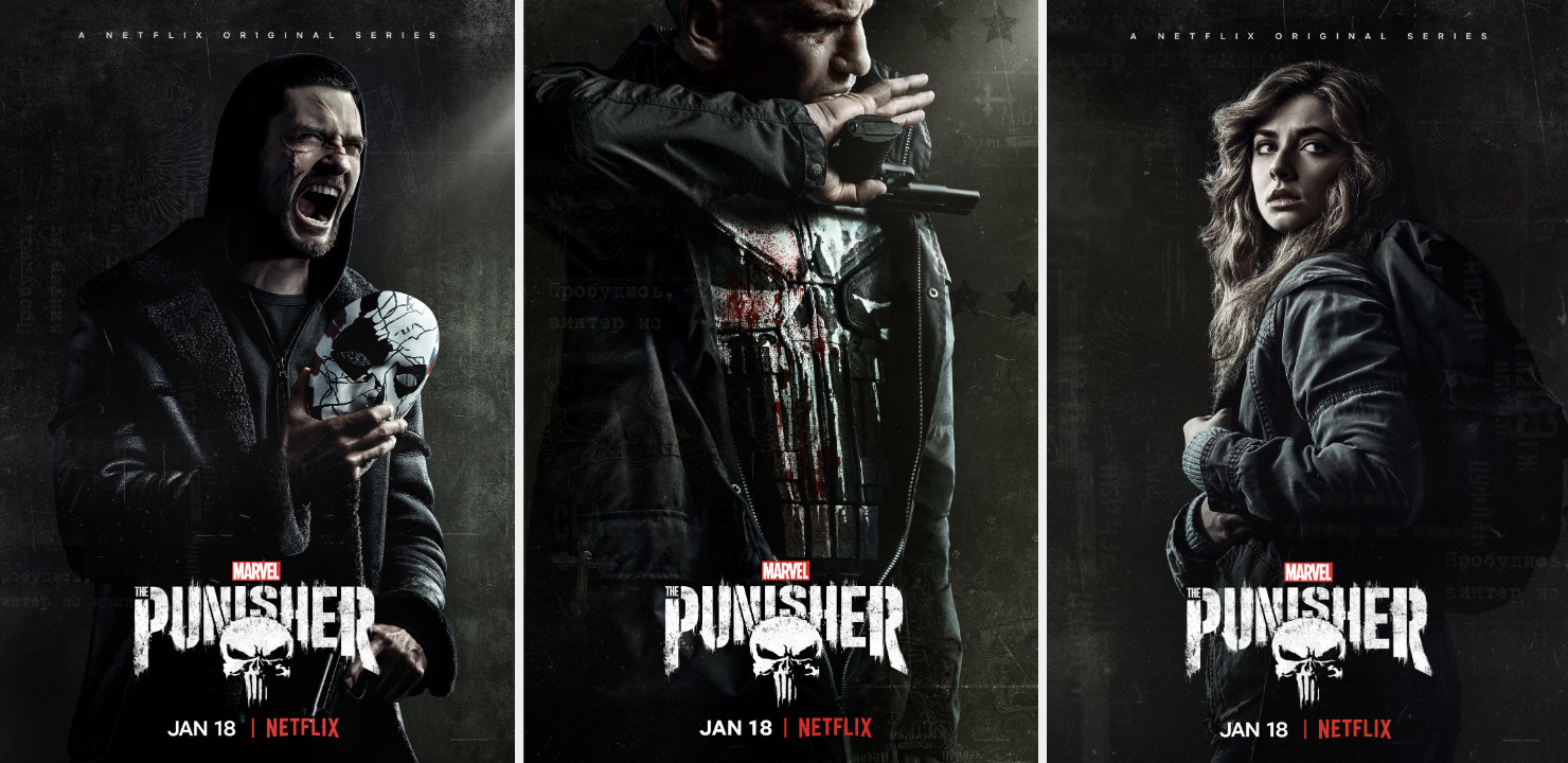 The Punisher Season 2: Billy, Frank, Amy poszterek