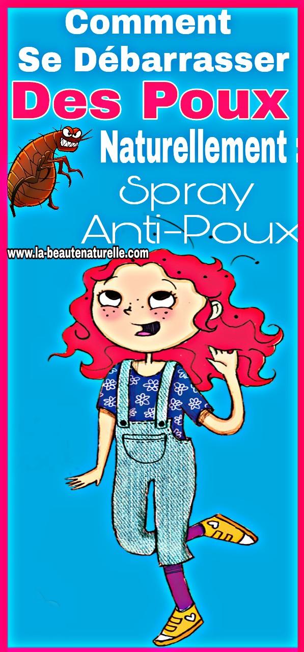 Comment se débarrasser des poux naturellement : Spray Anti-poux
