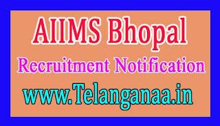 AIIMS Bhopal Recruitment Notification  2017