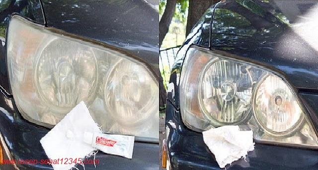 """JIKA KAP Lampu Motor/Mobilmu Warnanya Jadi Buram"""" Tak Perlu Beli Yang Baru!!! BEGINI Cara Mengkilapkannya Seperti Baru lagi!!!!"""