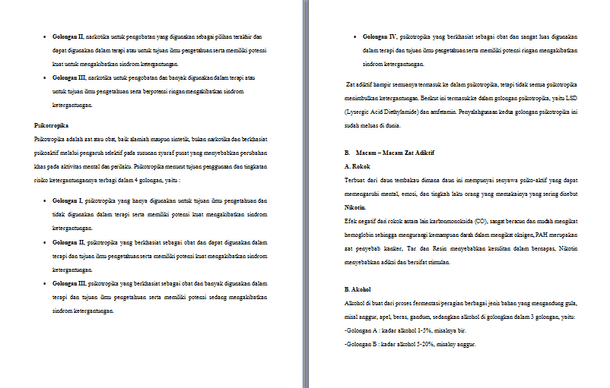 Contoh Makalah Zat Adiktif Dan Psikotropika Format Doc Docx Microsoft Word Contoh Docs