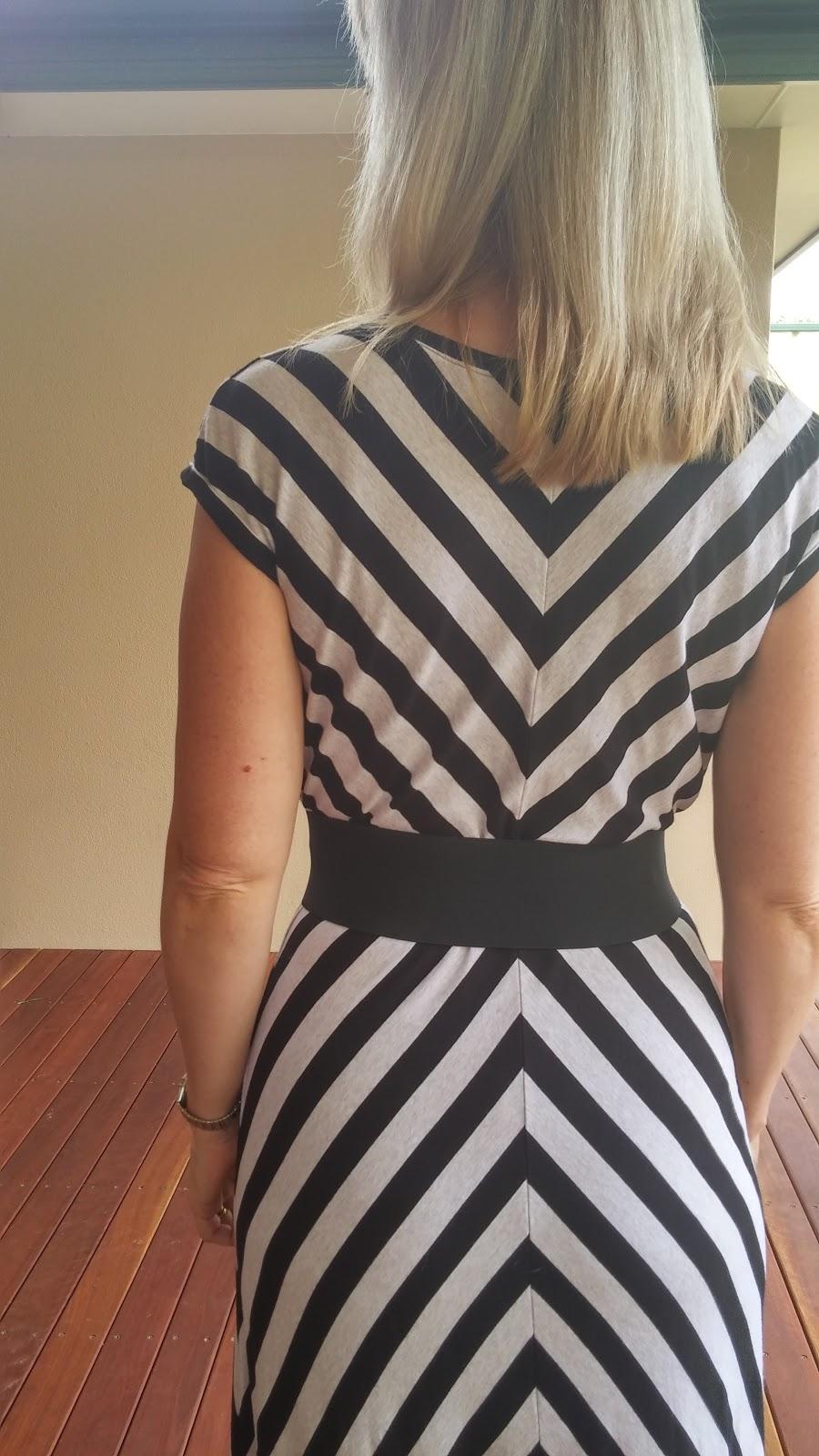 Vogue 1027 quarter circle skirt modification back view