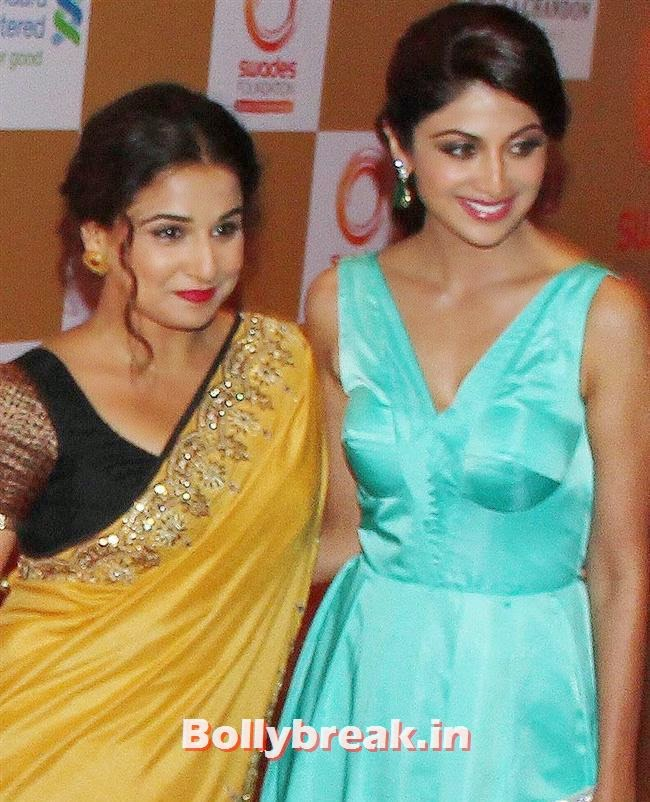 Vidya Balan and Shilpa Shetty, Sonakshi Sinha, Shilpa Shetty at Swades Foundation Fundraiser