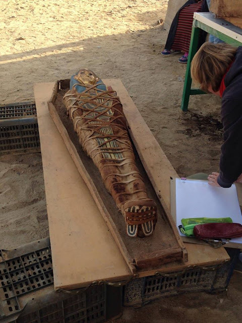 Graeco-Roman mummy discovered in Egypt's Fayoum