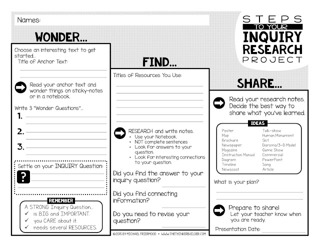 Inquiry Research: Moving Students Toward Independence