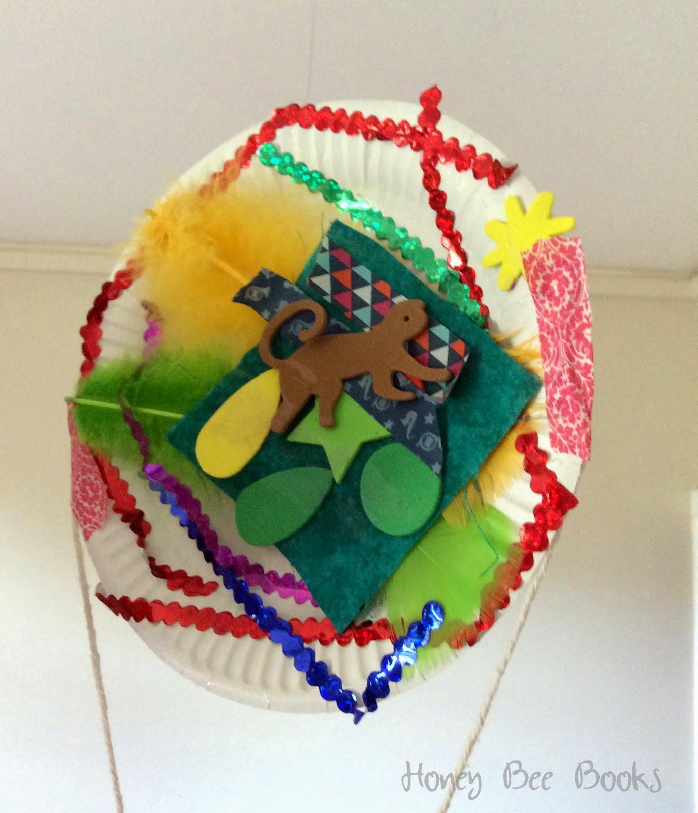 A paper plate hot air balloon