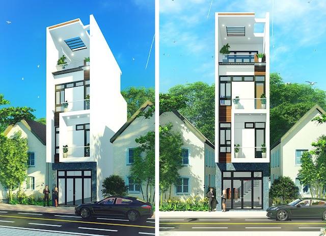 Chia sẽ mẫu nhà phố vẽ bằng revit full 4x12,5 mét 3,5 tầng