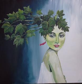 art, kunst, gallery, galleri, contemporary, moderne, moderns, colourful, farverig, ribs, sommerfugl, girl, pige, painting, maleri, girl, new painting, new, healty, vegetarian, vegan, go vegan