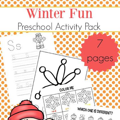 winter mini activity pack for pre k