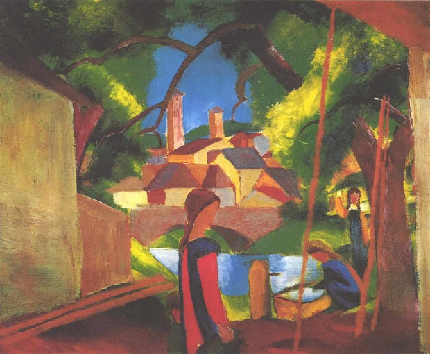 August Macke Expressionist Painter Tutt'art Pittura Scultura Poesia Musica