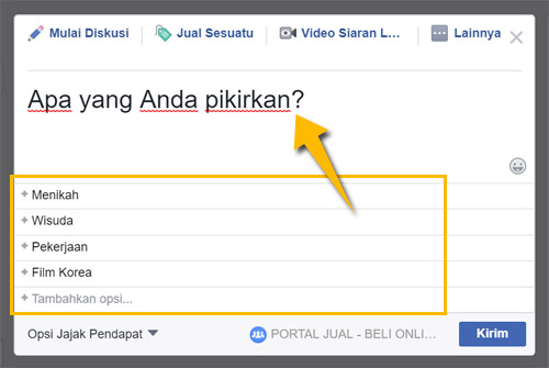 Cara Membuat Polling Survey di Facebook