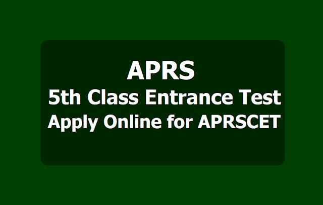 APRS 5th Class Entrance Test, APRCET 2019