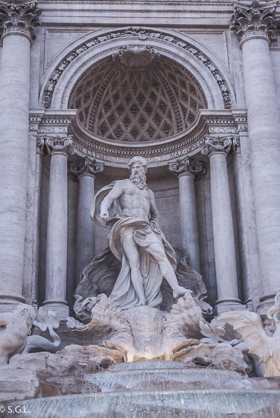 Detalle de La Fontana de Trevi. 10 curiosidades de la fontana de Trevi