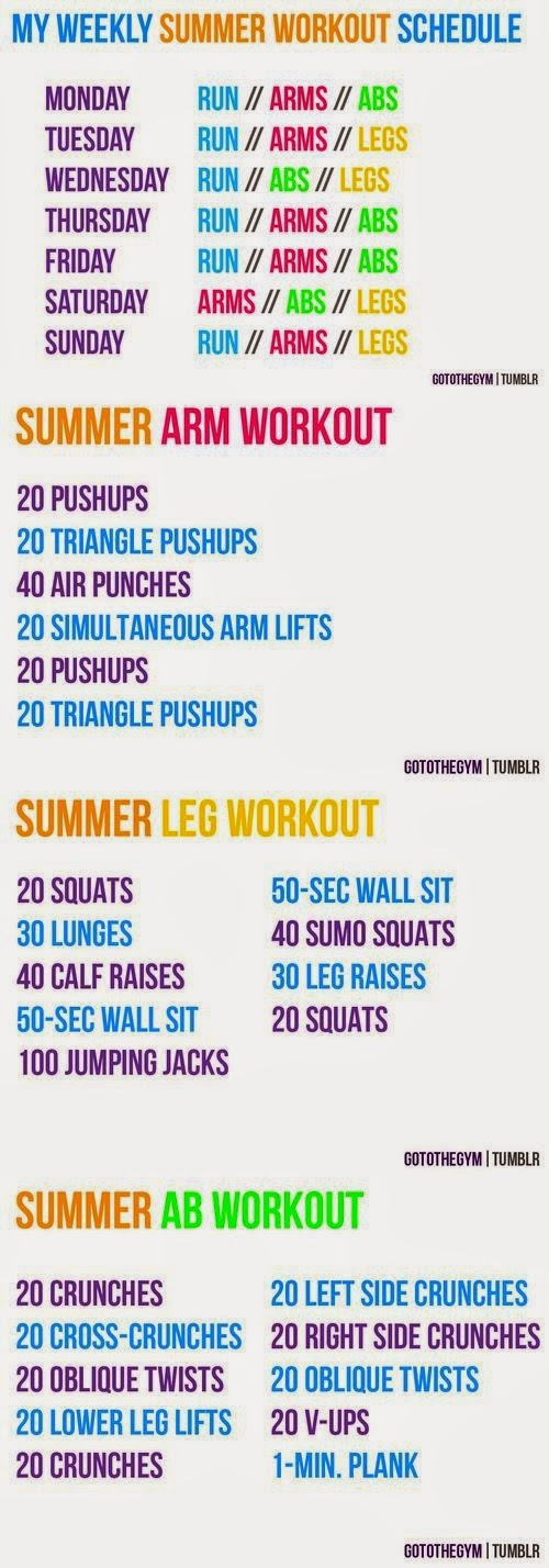 hover_share weight loss - weekly summer workout schedule