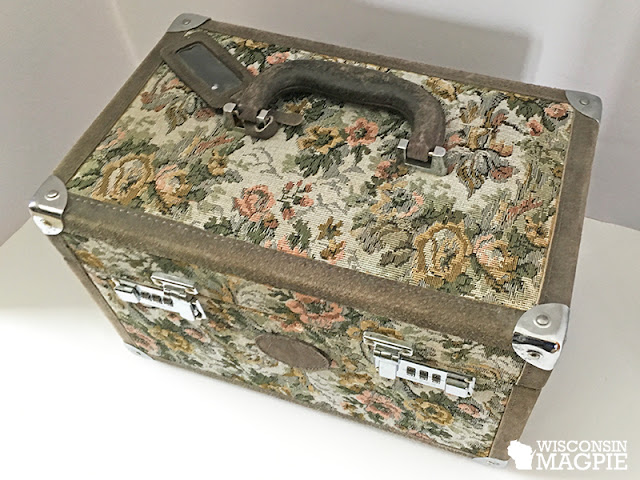 suitcase makeover before