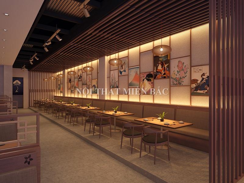 Thiết kế nhà hàng kiểu Nhật tôn trọng sự riêng tư