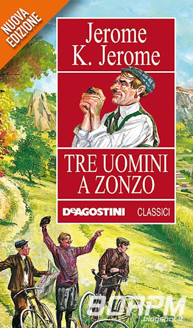 """Copertina del libro """"Tre uomini a zonzo"""" di Jerome K. Jerome"""