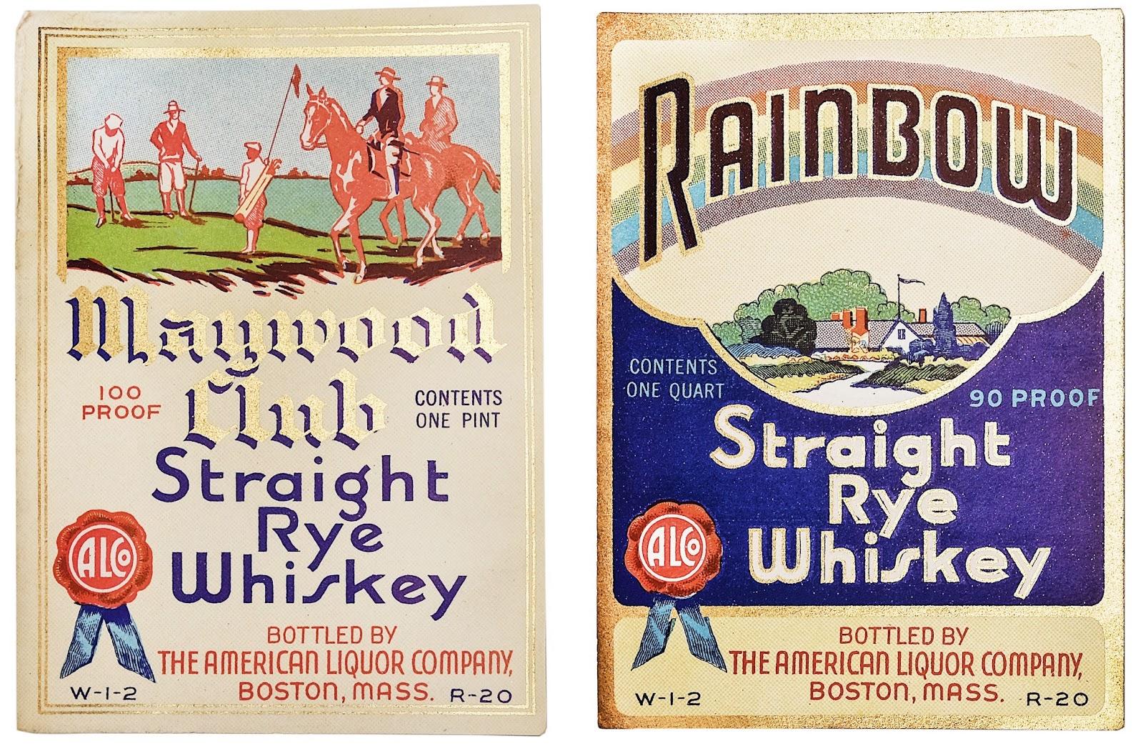 Vintage Liquor Label