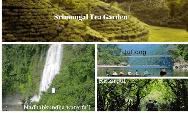 Sylhet tourist spot list