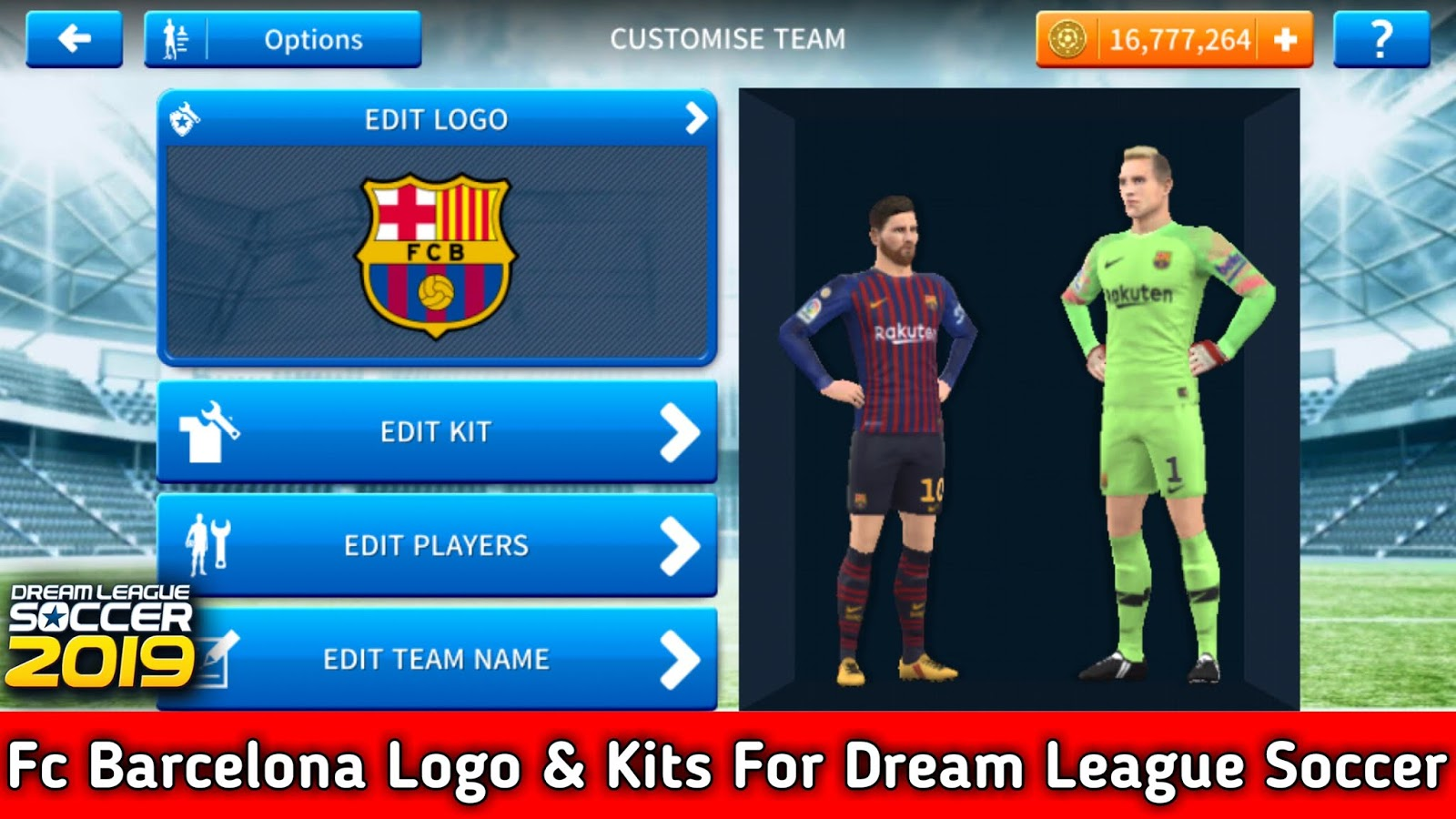 3af29b62f17 Fc Barcelona 2018-2019 Logo and Kits For Dream League Soccer