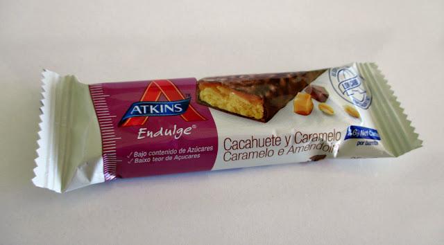 Atkins Caramel Chocolate Peabut Nougar Bar Healthy