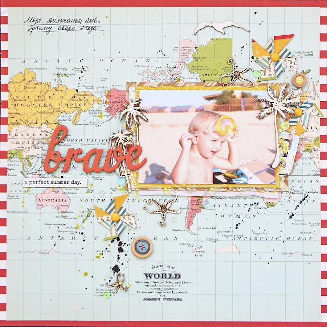@kattzen summer scrapbook layout