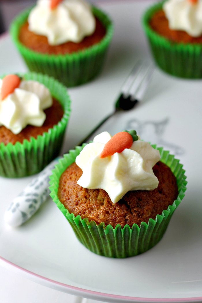Carrot & Zingy Lime Cupcakes