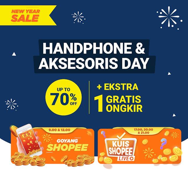#Shopee - Promo HP & AKsesorisnya Diskon s.d 70% + Ekstra Ongkir Gratis