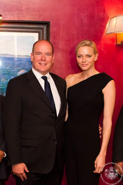 Prince Albert and Princess Charlene at Monaco's 20th anniversary in New York