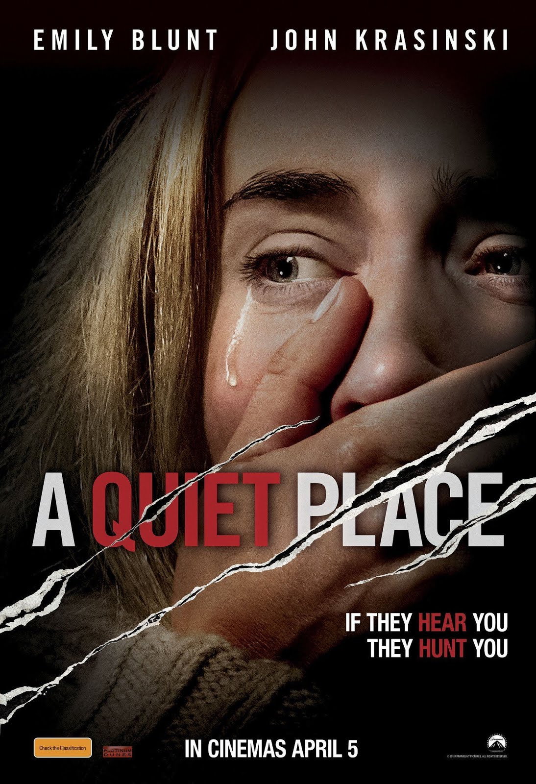 A Quiet Place (2018) ORG Hindi Dual Audio 400MB BluRay 720p HEVC x265 ESubs