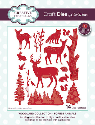 Woodland Collection Forest Animals Dies - CED3095