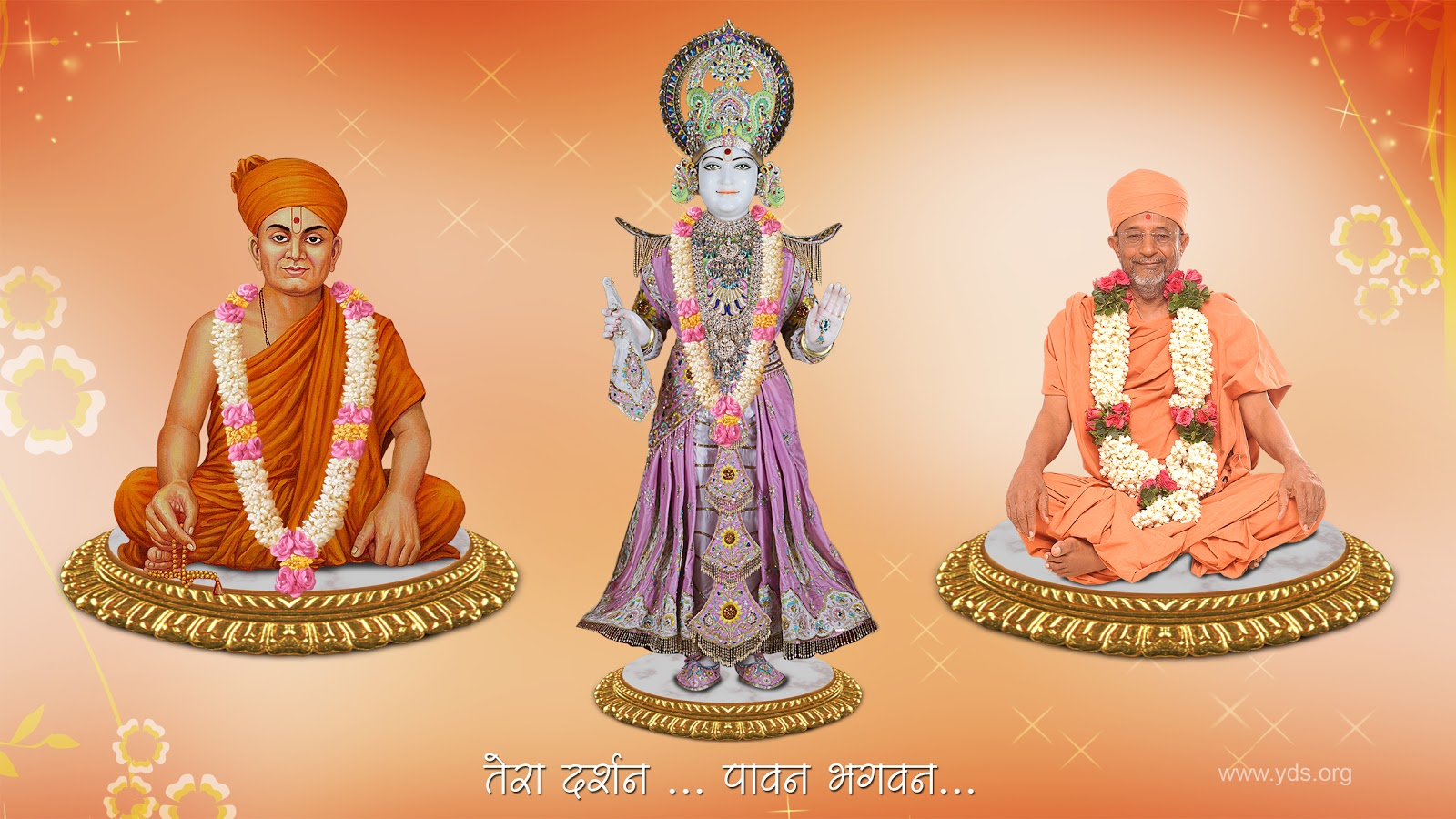 Baps Ghanshyam Maharaj Hd Wallpaper Shreeswaminarayanbhagwan Yds Wallpaper